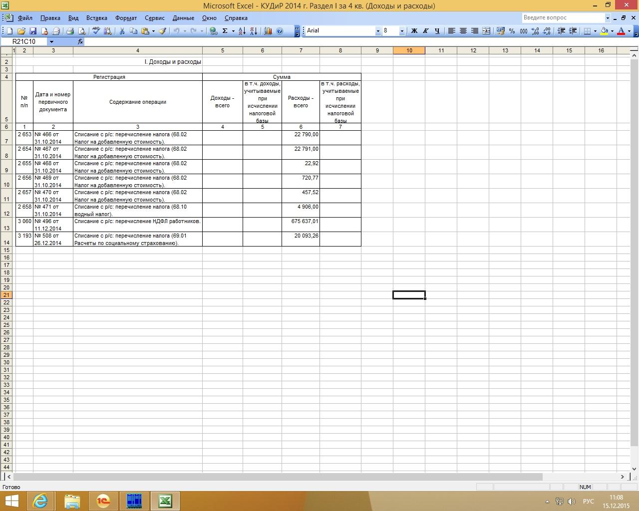 Учетная политика в 1с 8.3 для организаций на усн доходы минус расходы