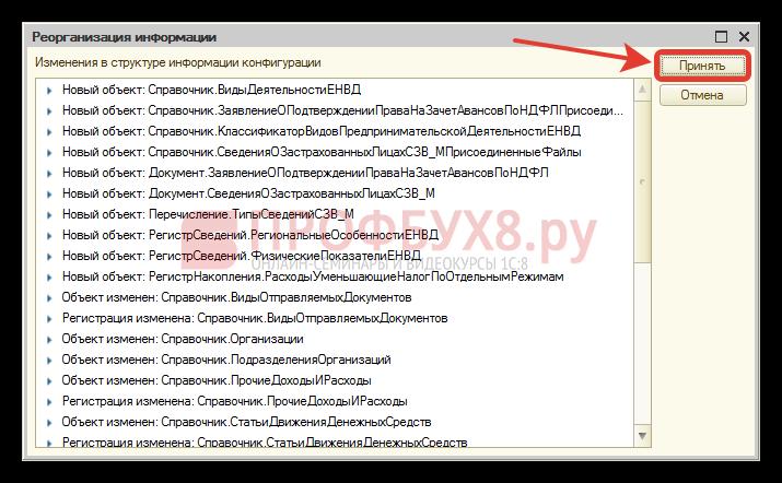 обновление конфигурации 1с 8.3 через конфигуратор