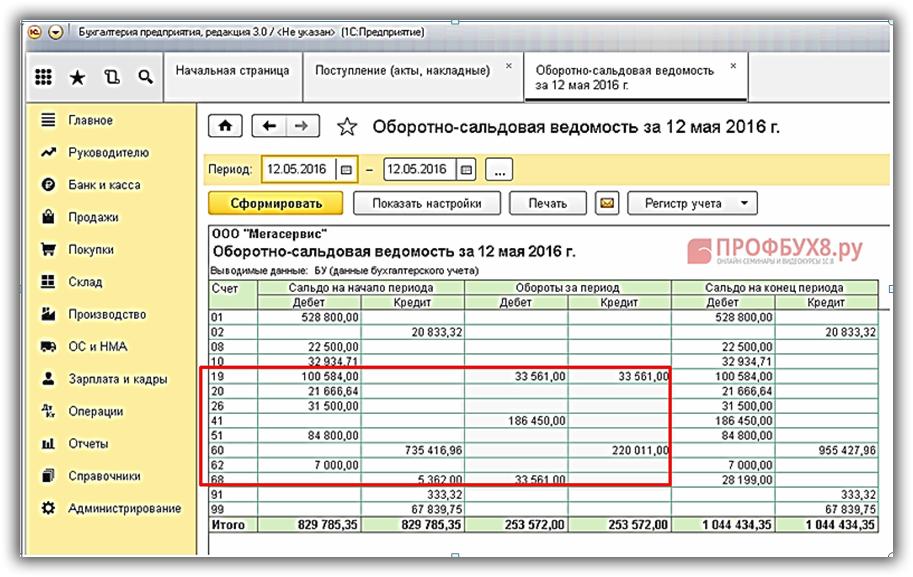 Проверка правильности оформления оприходования товаров в 1С 8.3