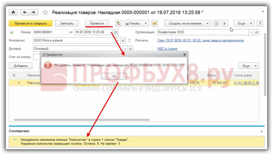 Отрицательные остатки в 1с 8.3 бухгалтерия заявление на усн при регистрации ип в течении дней