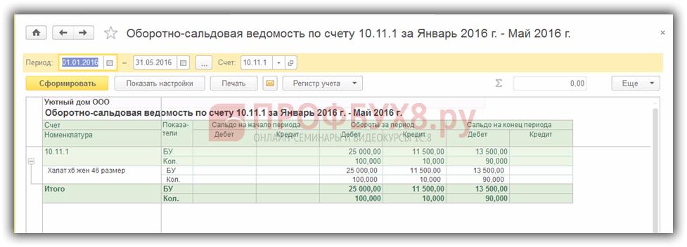 ОСВ по счету 10.11.1