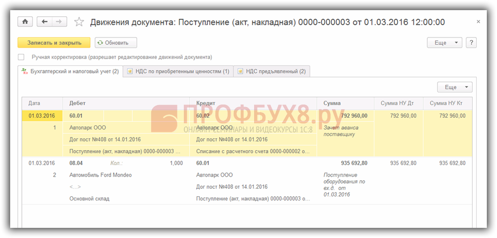 Каким документом в 1с 8.3 списать материалы на монтаж и установку ос